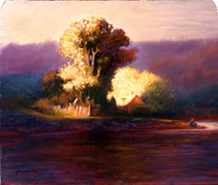 Sanctuary, an oil on canvas by Thomas Kennedy